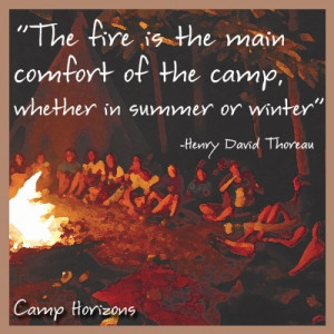 campfire quote - camp horizons