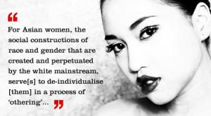 "Image via EthnoConnect . Quote: Helen Kim, ""Asianized Asians"""
