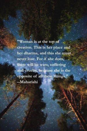 ... Maharishi Mahesh Yogi --- #empowerwomen #inspire #peace #motivate #