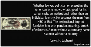 Whether lawyer, politician or executive, the American who knows what's ...