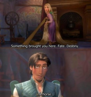 ... check out this funny quote from the popular 2010 disney movie tangled