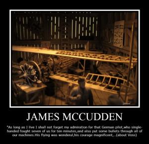 McCudden quotation about Voss