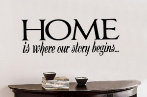 Home is where our 14x36 Vinyl Lettering Wall Quotes Words Sticky Art