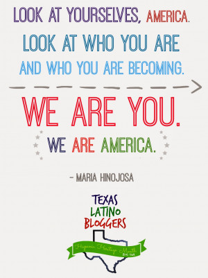 quote from one of my favorite voices, Maria Hinojosa from Latino ...