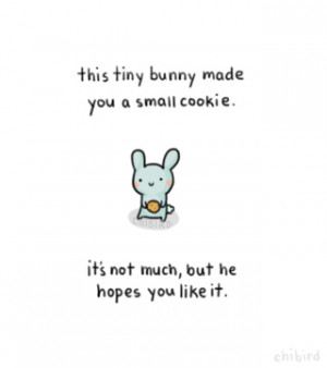 just drew a little bunny, and I thought this'd be cute. > u o