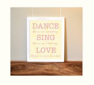 Inspirational quotes, baby girl nursery, girls room art, teen room art ...