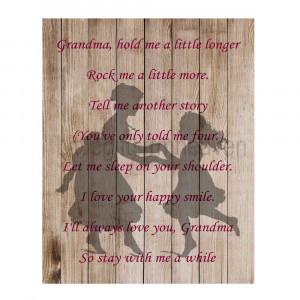 Grandma Quotes From Granddaughter Grandma quote print granddaughter ...