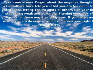 Post image for QUOTE & POSTER: Take control now. Forget about the ...