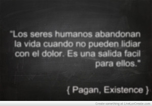 Quote From Existence Pagan
