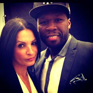 ... kathrine narducci kathrine narducci curtis 50 cent jackson on the set