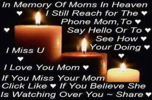 In Memory Of Moms In Heaven