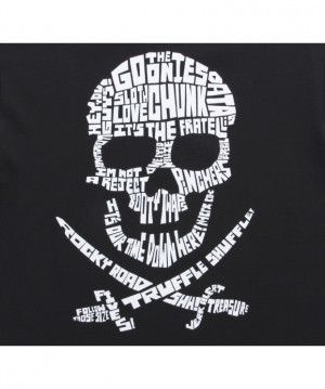 Home | Funny T-Shirts | Goonies Quote Skull Black T-Shirt