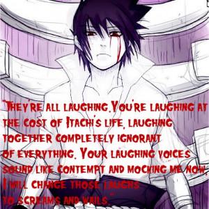 ... # sasuke # uchihaclan # hatred # quote # revenge # itachi # naruto
