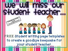students with a meaningful way to say goodbye to their student teacher ...