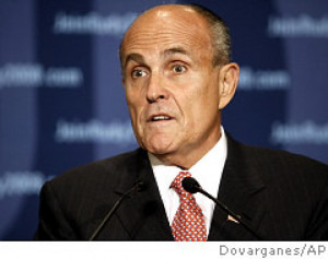 Rudy Giuliani, shown Thursday, has used quotes from the Bible to ...