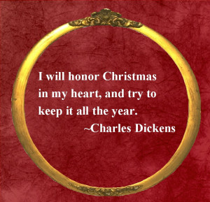 Christmas Quote:Dickens