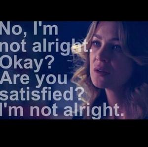 ; Grey's Anatomy quotesGreys Anatomy Sad Quotes, Im Not Okay Quotes ...