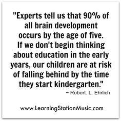 Early childhood is a vital time for children to learn because this is ...
