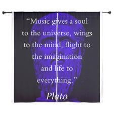 Music Gives A Soul to The Universe - Plato Curtain for