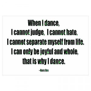 CafePress > Wall Art > Posters > Why I Dance Poster