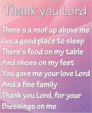 Thank you lord for your love quotes