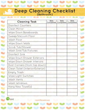 bathroom deep cleaning list download the bathroom deep cleaning list ...