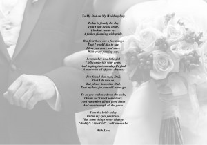 ... Father of the Bride - Wedding Day Thank You Poem - Daddy's Little Girl