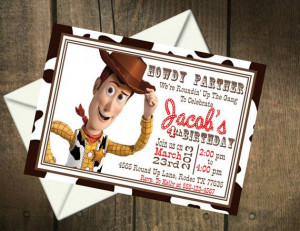 Toy Story Woody Birthday Party Printable Invitation