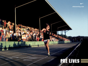 Steve Prefontaine Poster By Nike Pre Lives Picture