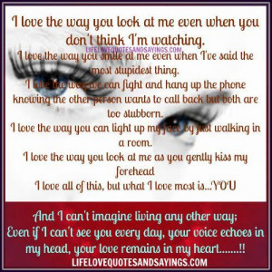 The Way You Look at Me Quotes
