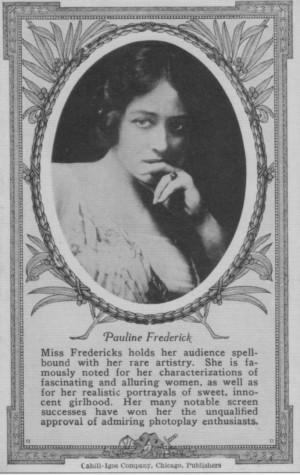Pauline Frederick: Rare Photo