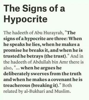 prophet Muhammad quotes on hypocrites by tamara