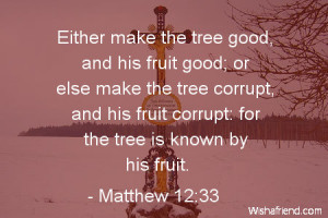 Either make the tree good, and his fruit good; or else make the tree ...