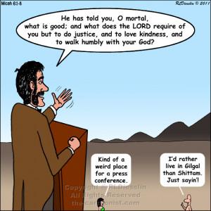 Cartoon Old Testament Prophet