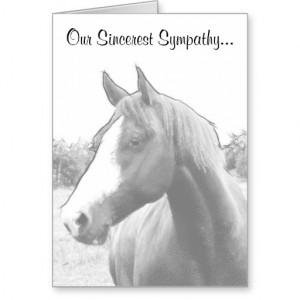 Sympathy For Loss Horse Oak