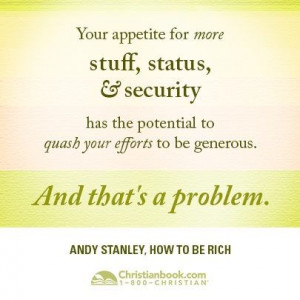 Andy Stanley, How to Be Rich