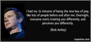 Rick Astley Quote
