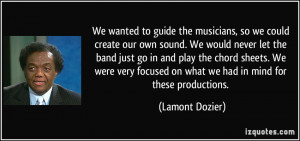 More Lamont Dozier Quotes