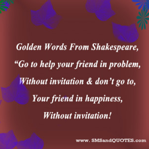 Golden Words From Shakespeare