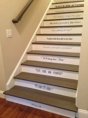 Sayings In Bedroom-Stair Project