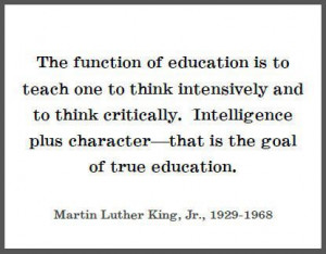 Martin Luther King Jr. on education