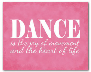 Dance is the joy of movement and th e heart of life quote - Typography ...