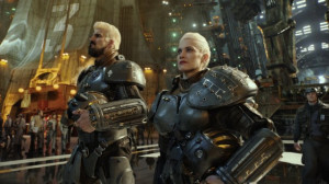 Still of Robert Maillet and Heather Doerksen in Pacific Rim (2013)