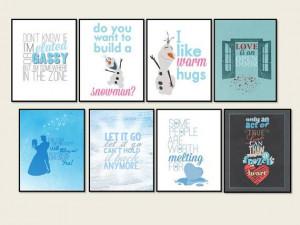 all eight frozen quotes posters.. digital files straight to your inbox ...