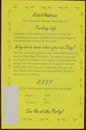 Kenner Employee Farewell Invitation