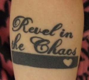 Inspirational quotes with heart tattoo