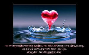 love quotes You are My Sunshine