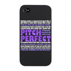 ... Gifts > Acapella Phone Cases > Pitch Perfect Quotes iPhone Snap Case