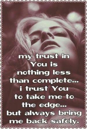 trust You...