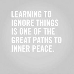 Just ignore